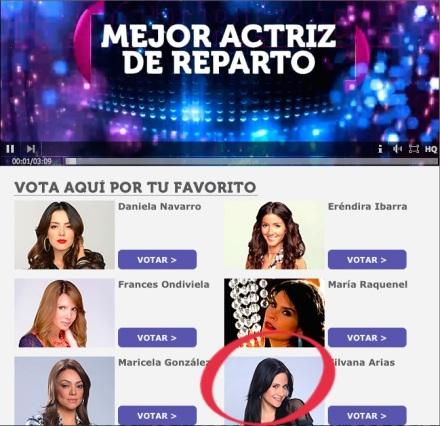 Silvana Arias - Mejor Actriz de Reparto