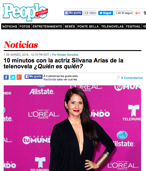 Silvana Arias People en Espanol